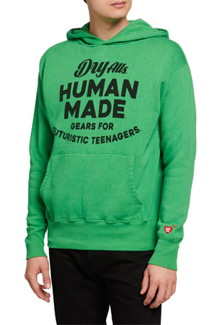 HUMAN MADE Men's Typographic Pullover Hoodie
