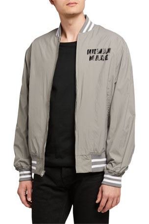 HUMAN MADE Men's Dry Alls Zip-Front Bomber Jacket