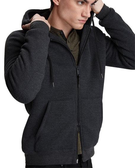 John Varvatos Star USA Men's Trenton Sherpa-Lined Zip-Front Hoodie