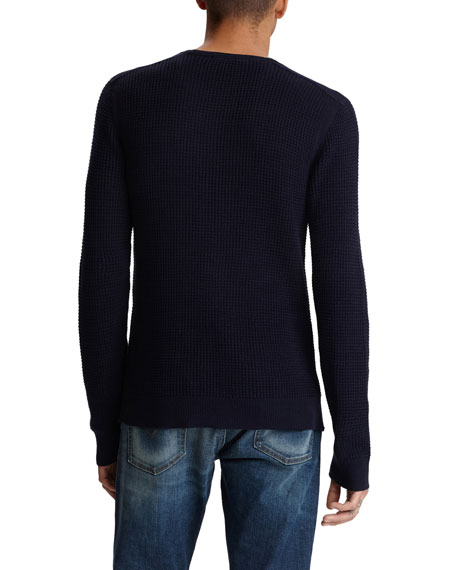 John Varvatos Star USA Men's Davidson Waffle-Knit Shirt