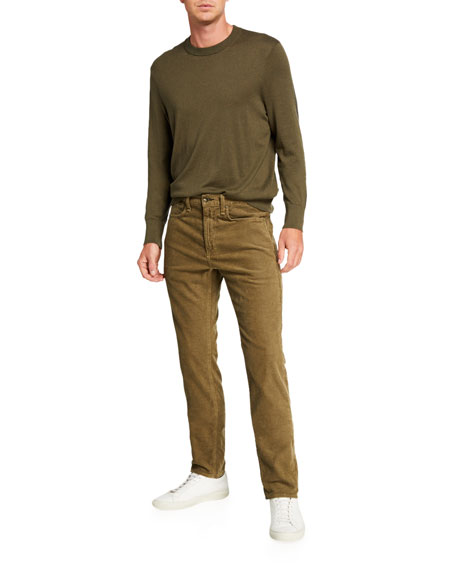 Rag & Bone Men's Standard Issue Fit 2 Mid-Rise Relaxed Slim-Fit Corduroy Jeans, Army