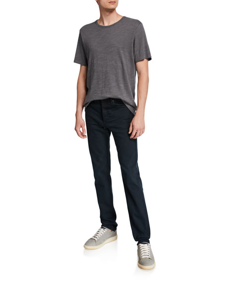Image 3 of 3: Rag & Bone Men's Standard Issue Fit 2 Mid-Rise Relaxed Slim-Fit Jeans, Dark Wash