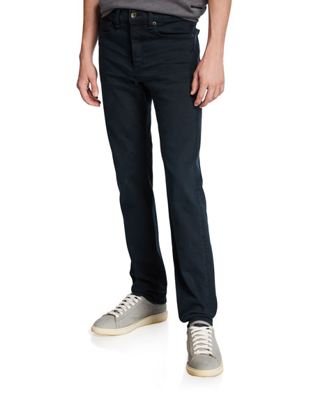 Image 1 of 3: Rag & Bone Men's Standard Issue Fit 2 Mid-Rise Relaxed Slim-Fit Jeans, Dark Wash