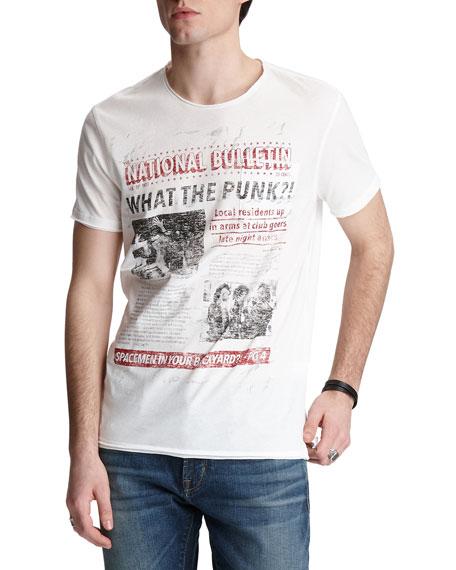 John Varvatos Men's Punk Paper Graphic T-shirt In Salt