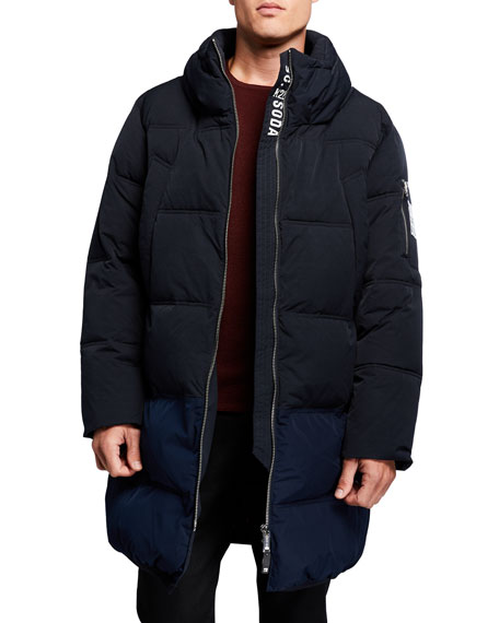 Image 1 of 3: Scotch & Soda Men's Long Quilted Jacket