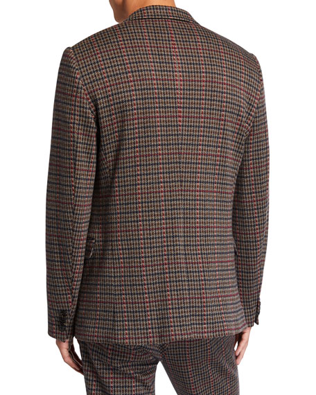 Scotch & Soda Men's Houndstooth Two-Button Jacket