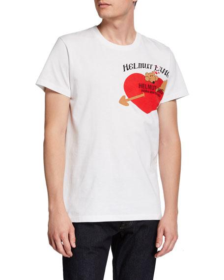 Helmut Lang Men's PZ Valentine Standard Graphic Crewneck T-Shirt