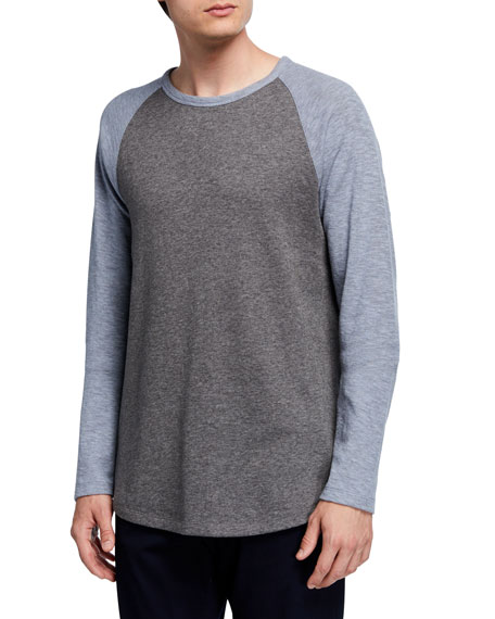 Vince Men's Long-Sleeve Raglan Baseball T-Shirt