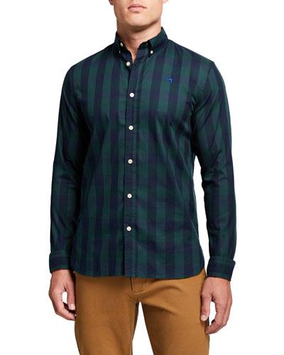 Men's BB Check Regular-Fit Sport Shirt