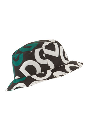 Dolce & Gabbana Men's Logo Mania Bucket Hat
