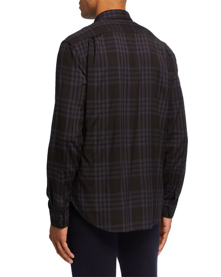 Image 2 of 2: Vince Men's Two-Toned Plaid Sport Shirt