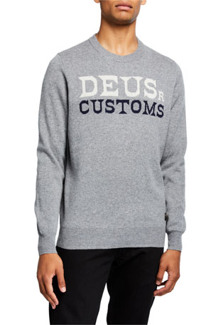 Deus Ex Machina Men's Flightless Intarsia-Knit Logo Sweatshirt
