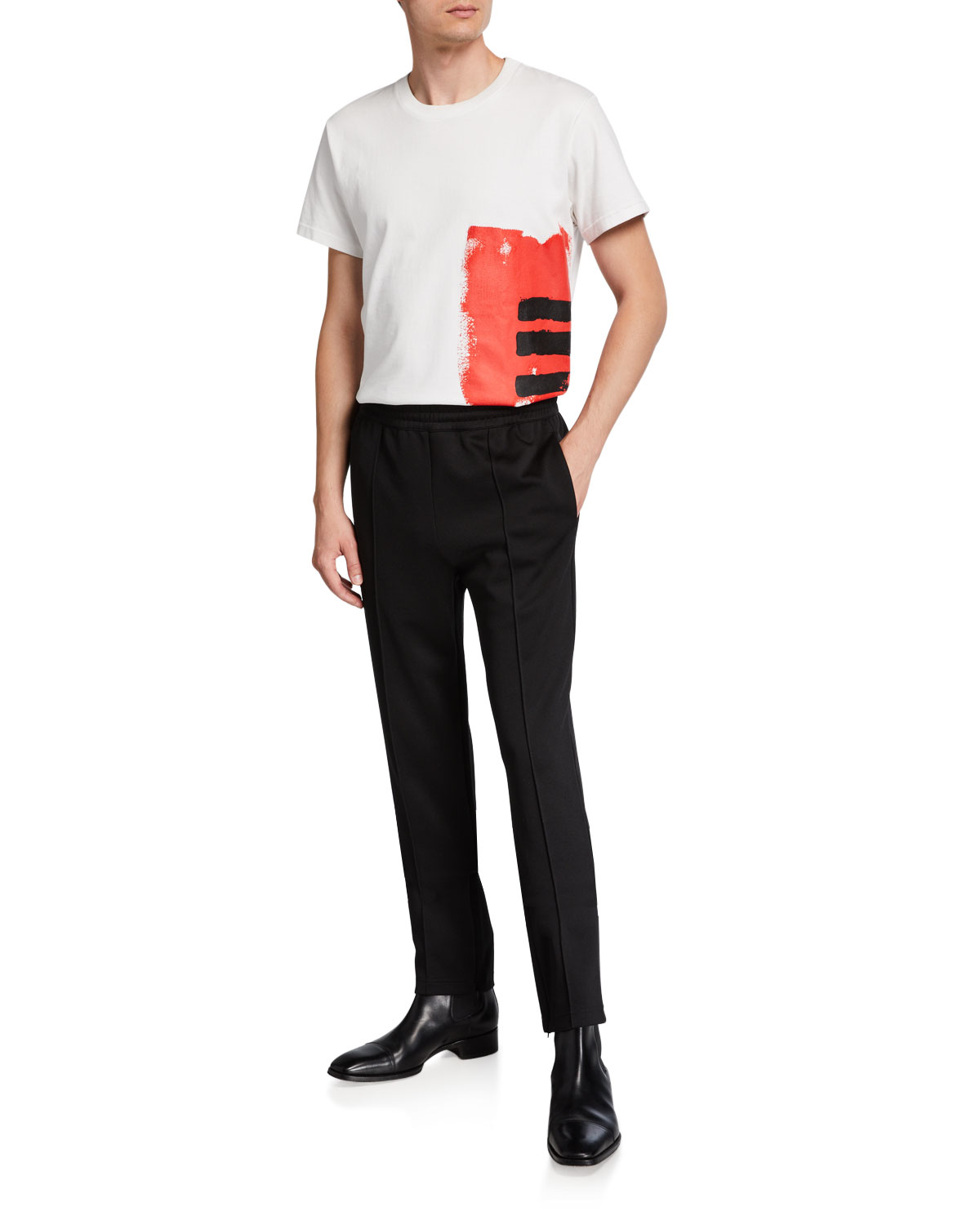 Men's Jersey Track Pants by Helmut Lang