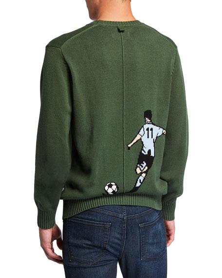 Ovadia & Sons Men's Betar Soccer Graphic Sweater