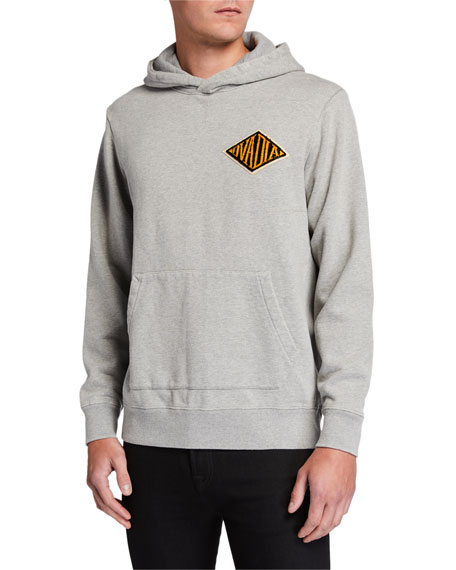Ovadia & Sons Men's Snow Wash French Terry Hoodie Sweatshirt w/ Logo Applique