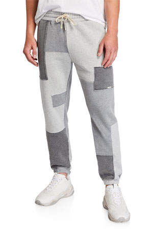 Ovadia Men's Dune Patchwork-Knit Sweatpants