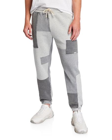 Ovadia & Sons Men's Dune Patchwork-Knit Sweatpants