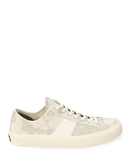 TOM FORD Men's Camo Suede Low-Top Sneakers