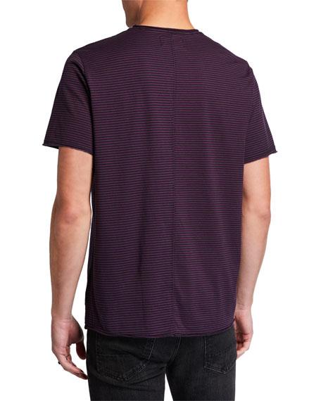 Ovadia & Sons Men's Striped Cotton Crewneck T-Shirt