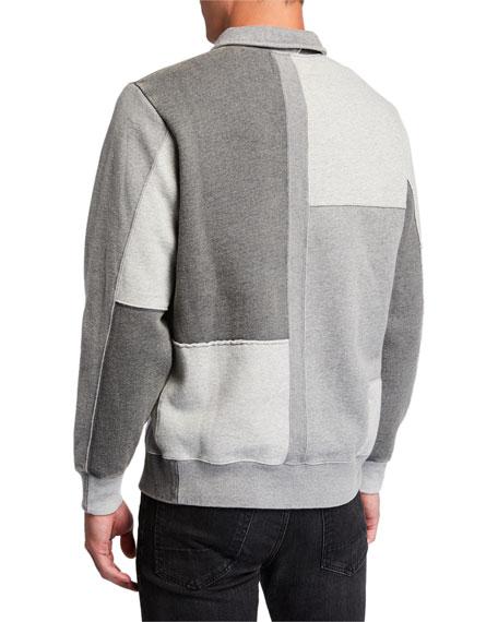 Ovadia & Sons Men's Dune Half-Zip Patchwork Sweatshirt