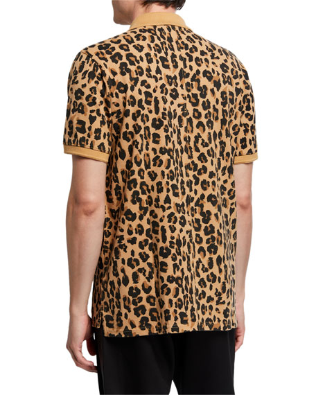 Ovadia & Sons Men's Leopard-Print Polo Shirt