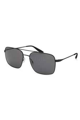 Barton Perreira Men's Volair Metal Polarized Sunglasses