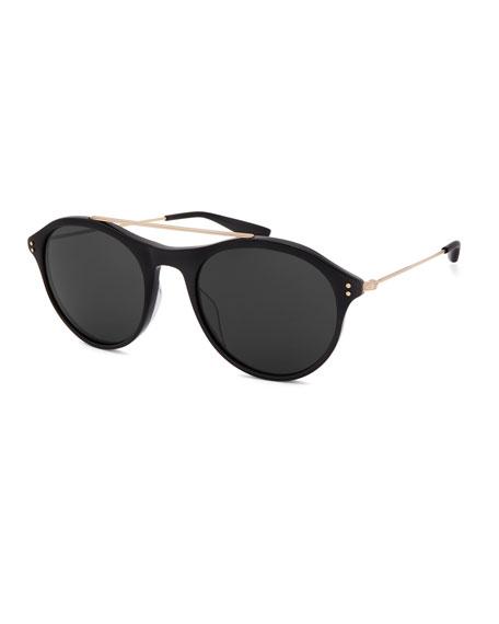 Barton Perreira Men's Vanguard Round Stud Sunglasses
