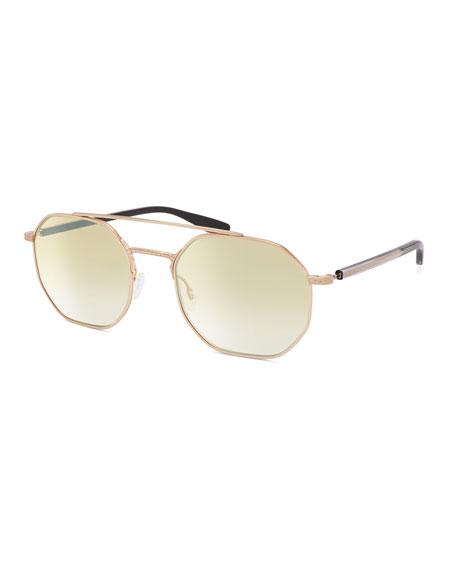 Barton Perreira Men's Metis Metal Octagonal Sunglasses - Gradient