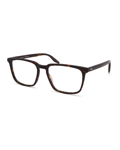 Barton Perreira Men's Eiger Dark Walnut Rectangle Optical Frames
