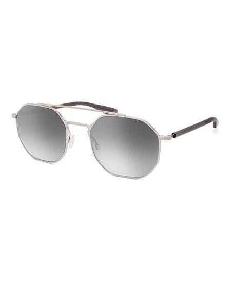 Barton Perreira Men's Metis Metal Octagonal Sunglasses - Gradient Mirror
