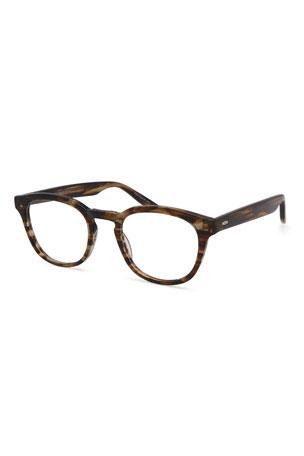 Barton Perreira Men's Gellert Sulcata Round Tortoiseshell Optical Frames