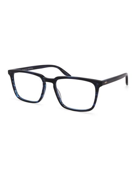 Barton Perreira Men's Eiger Midnight Patterned Rectangle Optical Frames