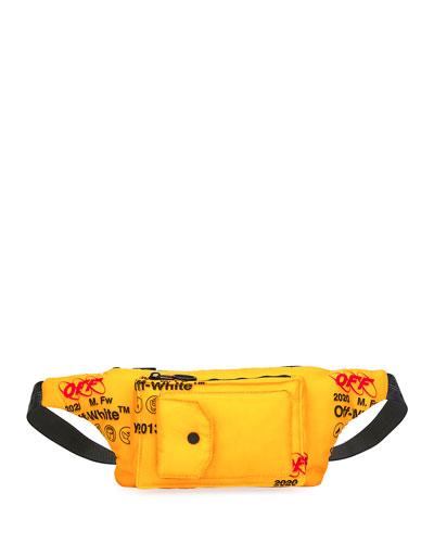 Men's Industrial Pocket-Front Belt Bag/Fanny Pack