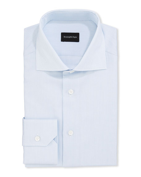Ermenegildo Zegna Dresses Men's Structured Tic Dress Shirt