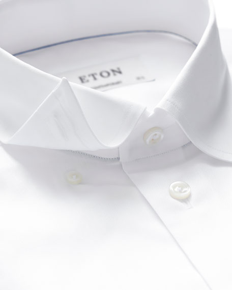 Image 2 of 3: Eton Men's Contemporary-Fit Poplin Dress Shirt
