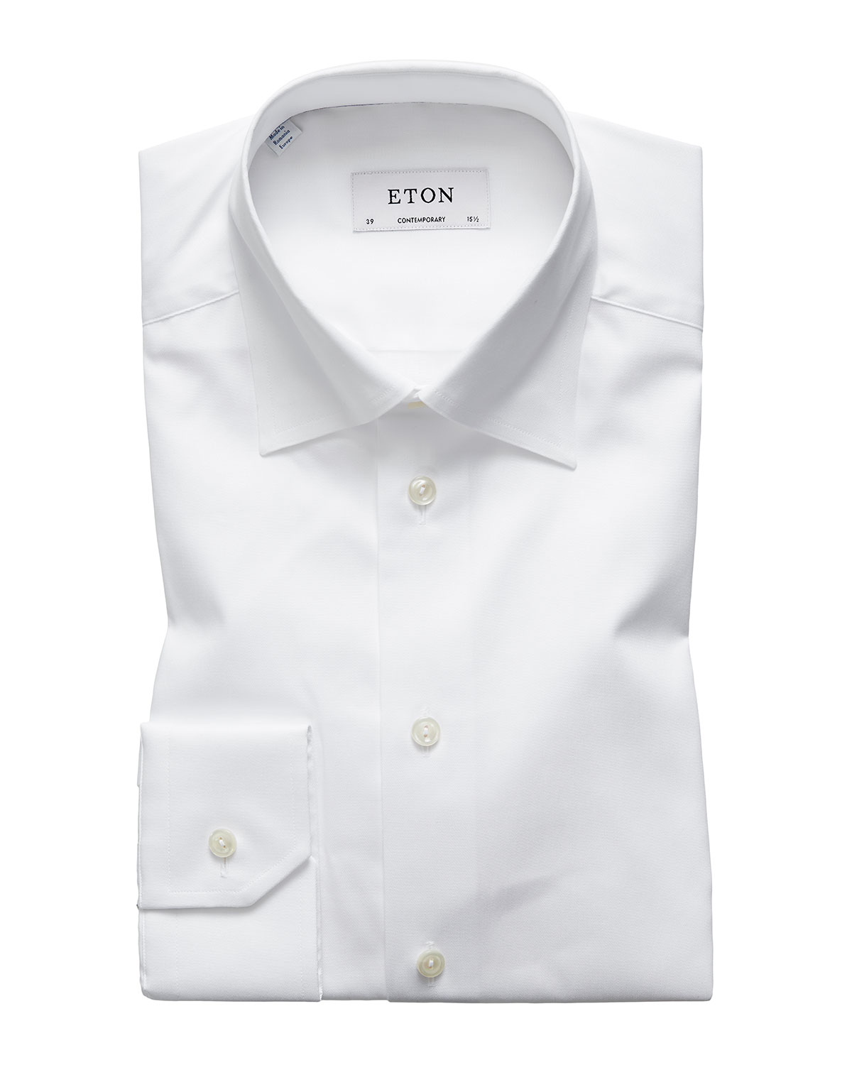 Eton Men's Contemporary-Fit Poplin Dress Shirt