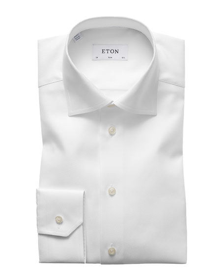 Eton Men's Slim Fit Cavalry Twill Dress Shirt