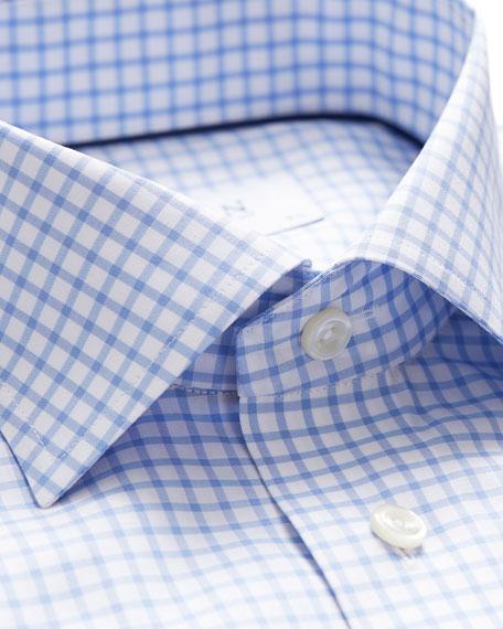 Eton Men's Contemporary-Fit Grid-Check Natural-Stretch Dress Shirt