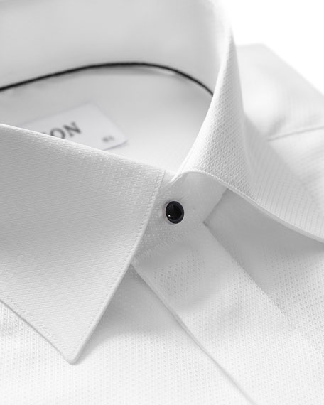 Eton Men's Slim-Fit Diamond Dress Shirt