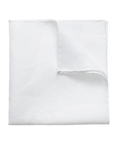Men's Solid Linen Pocket Square
