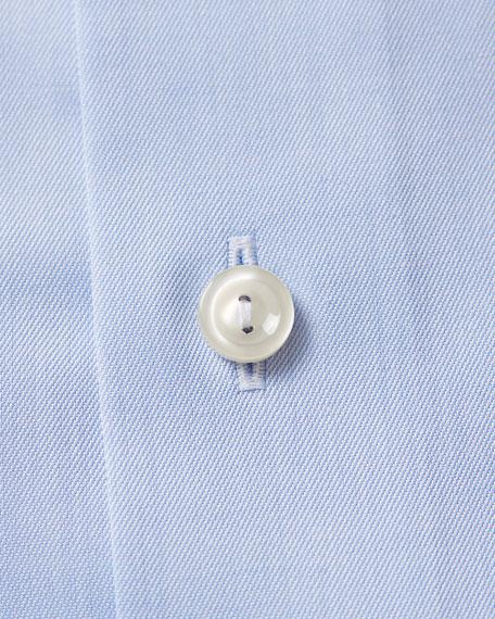 Eton Men's Contemporary-Fit Twill Dress Shirt with Hidden Button-Down Collar