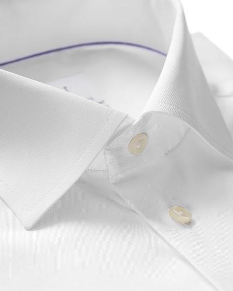 Eton Men's Slim-Fit French-Cuff Twill Dress Shirt