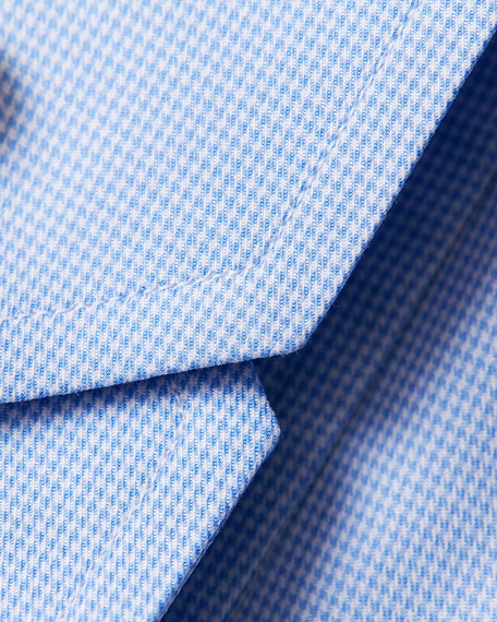 Eton Men's Slim-Fit Micro Houndstooth Dress Shirt