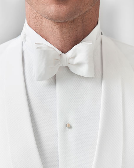 Eton Men's Solid Pique Formal Bow Tie