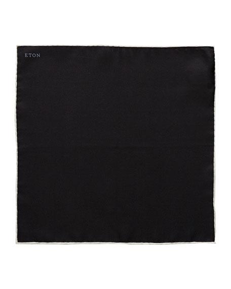 Eton White Silk Pocket Square