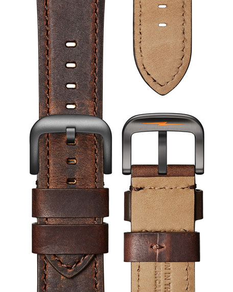 Shinola Men's 43mm Guardian Watch with Premium Leather Strap