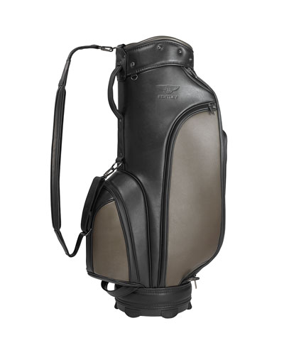 Men's Waterproof Leather Golf Tour Bag