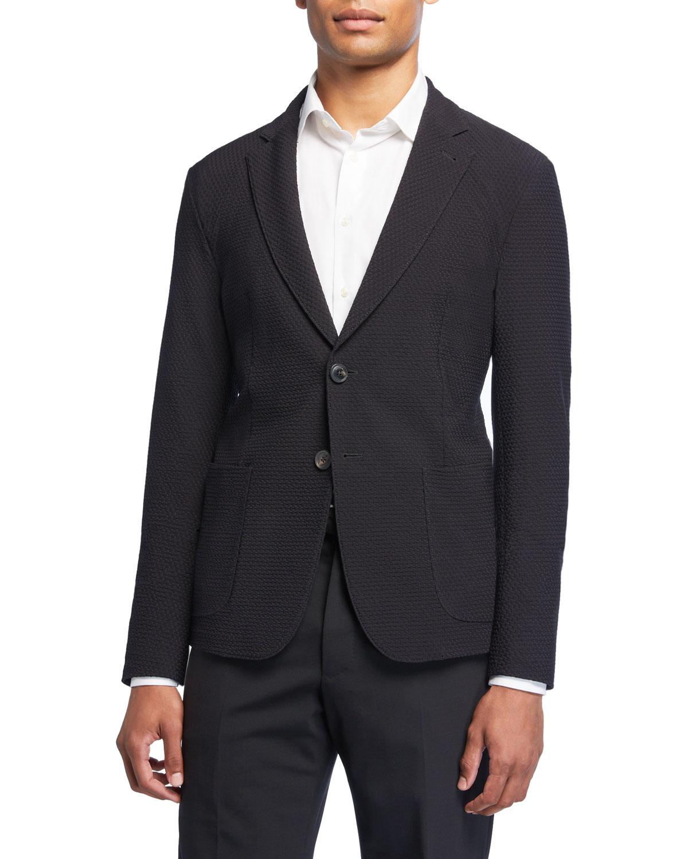 a2c497297a6 Emporio Armani Men's Soft Textured Stretch Sport Jacket   Neiman Marcus