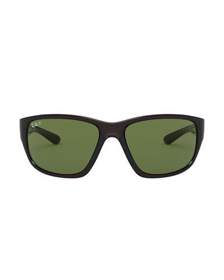 Ray-Ban Men's 63mm Polarized Square Propionate Sunglasses