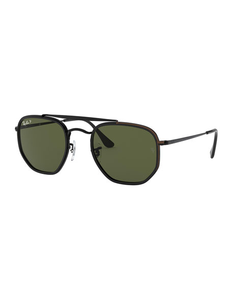 Ray-Ban Men's Hexagonal Steel Double-Bridge Sunglasses